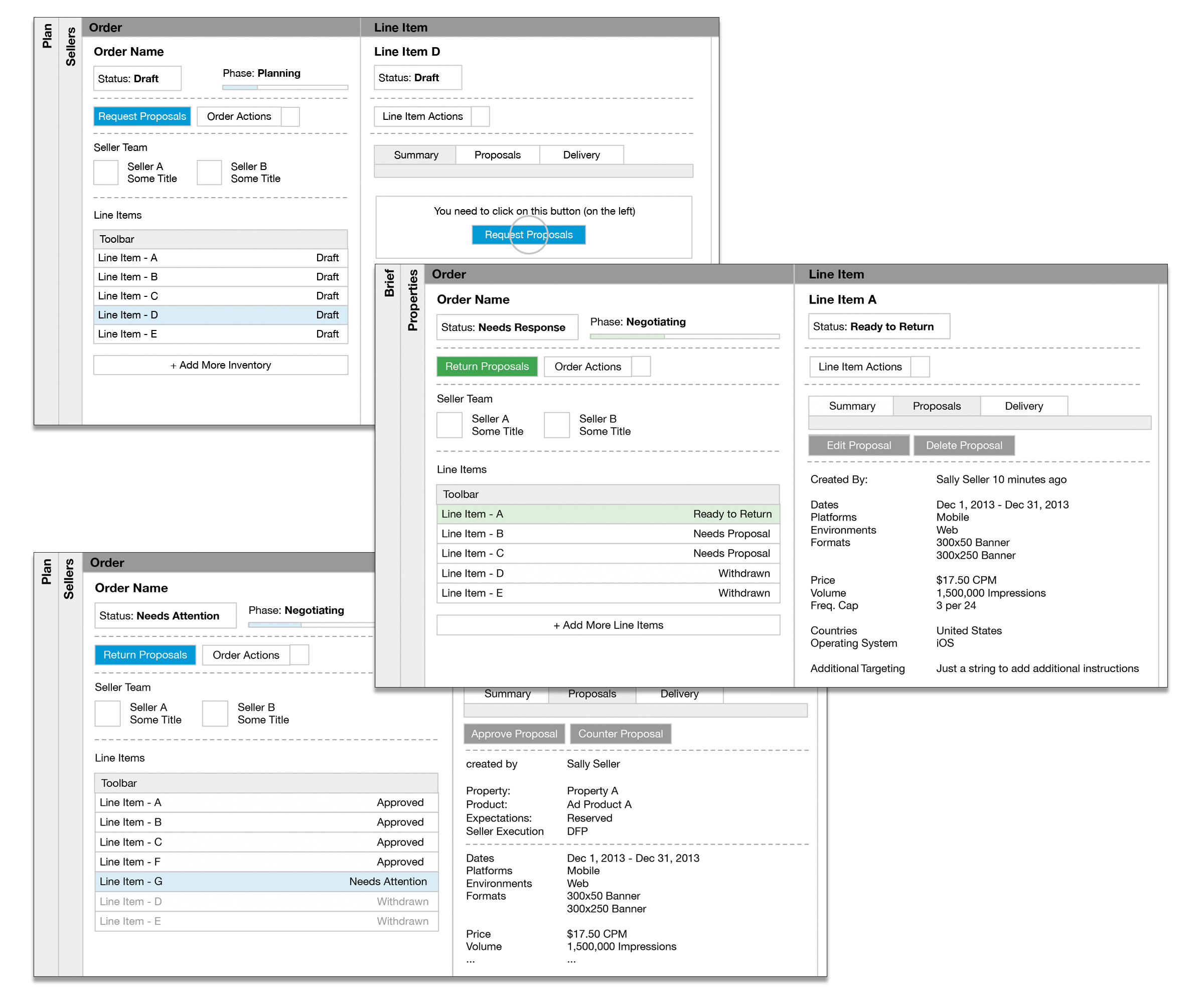 B2B SaaS Application Wireframes